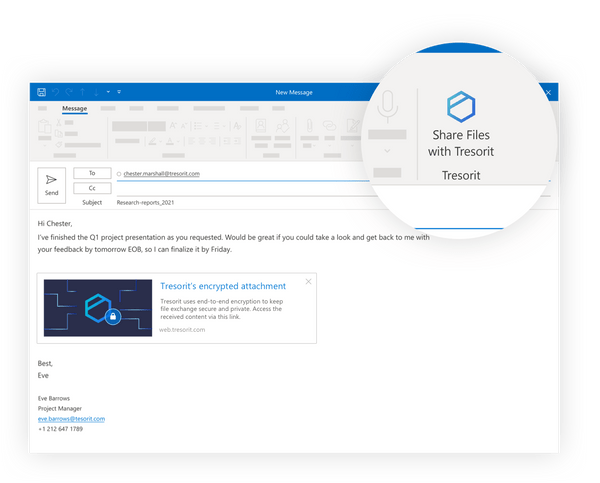 Tresorit for Outlook and Gmail