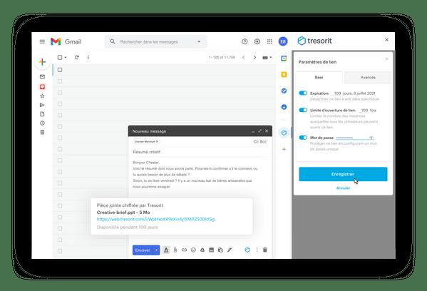 Tresorit pour Gmail