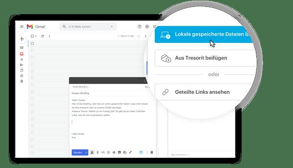 Das Senden sicherer E-Mail-Anhänge via Gmail einfach gemacht