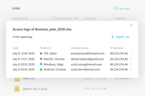 Track your shared links