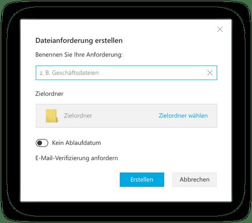 Empfangen und sammeln Sie Dateien auf sichere Weise