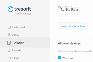 Setting up custom policies for user groups