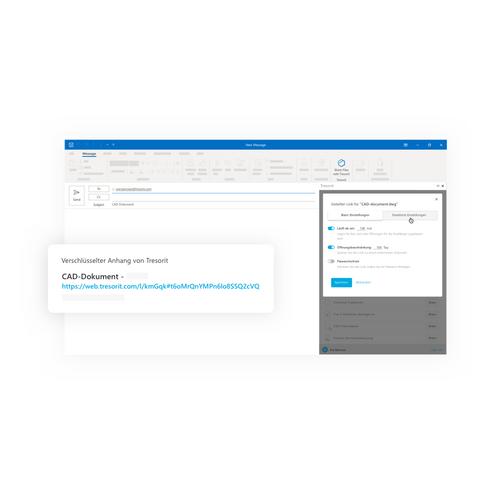 TISAX-konforme E-Mail-Kommunikation via Tresorit für Outlook (VDA ISA Kapitel 5 & 6 & 7)