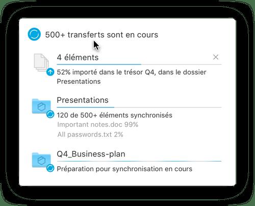 Transférez des fichiers à vos partenaires externes, jusqu'à 20 Go