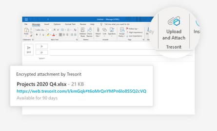 Tresorit for Outlook 2.0